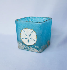 Candle Holder, Square Palm