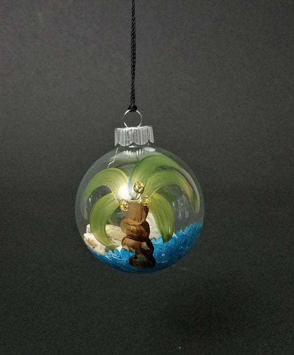 Marigot Art Glass Ornament Palm