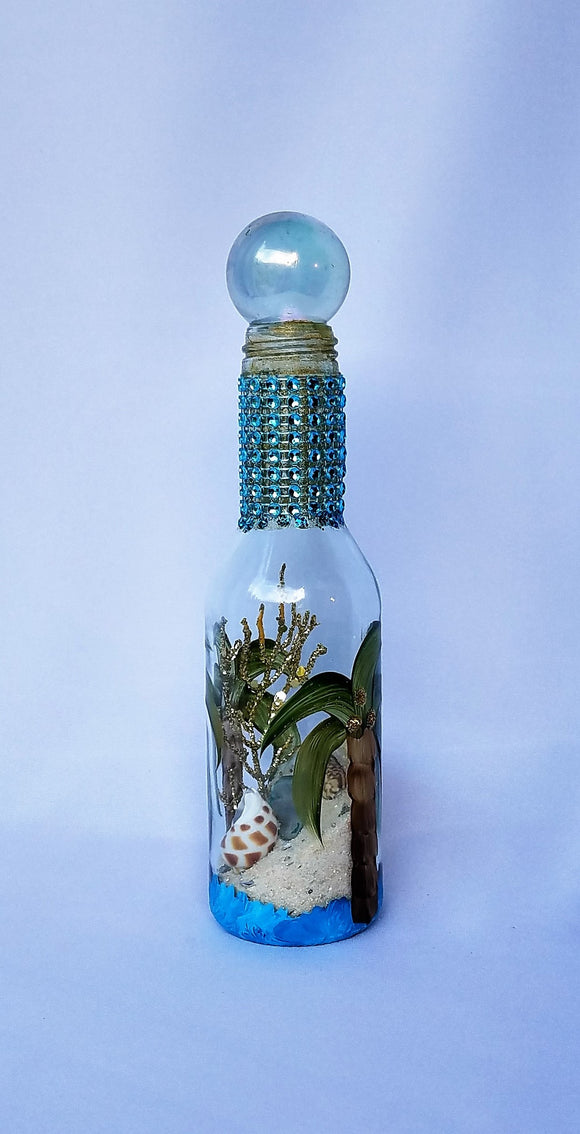 Marigot Art Tall Sand Bottle Palm
