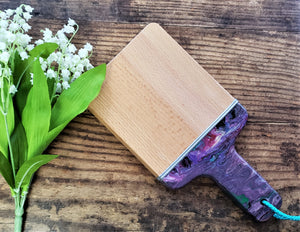 Wood Paddle Chopping Board Purple
