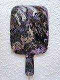 Marigot Art Bamboo Paddle Purple Black Silver Home Decor