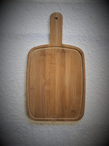 Marigot Art Wood Paddle Large Back