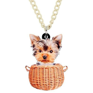 Acrylic Yorkshire Terrier Necklace - Necklace