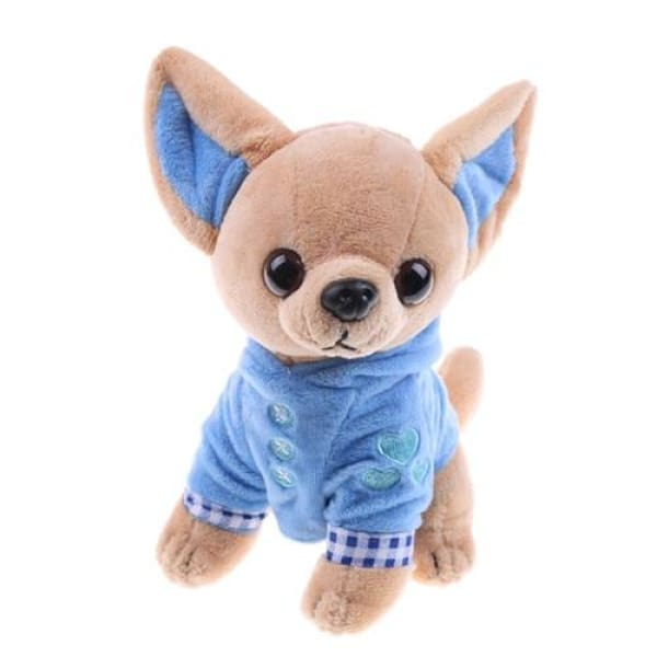 Fluffy Chihuahua Toy - Blue - Toy