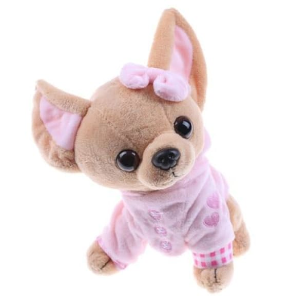 Fluffy Chihuahua Toy - Pink - Toy