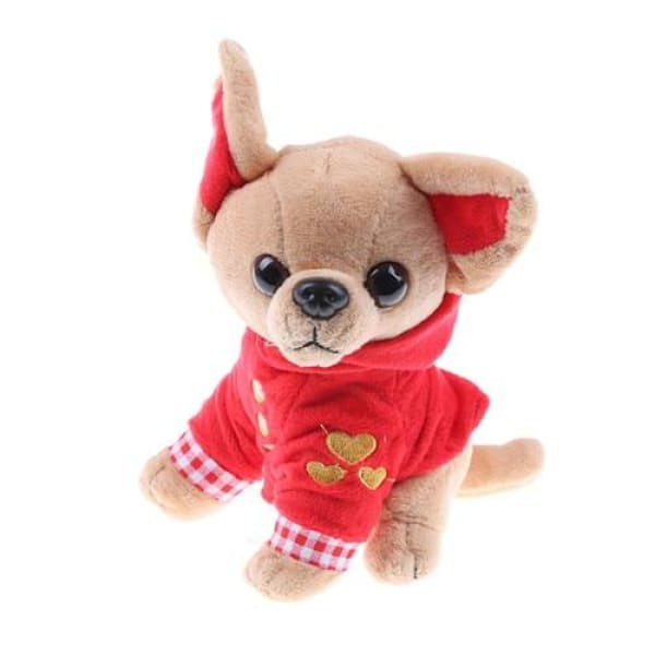 Fluffy Chihuahua Toy - Red - Toy