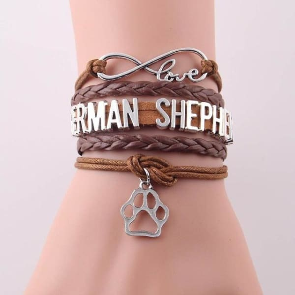 German Shepherd Bracelet - brown - Bracelet