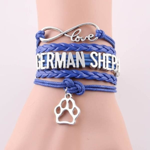 German Shepherd Bracelet - purple - Bracelet