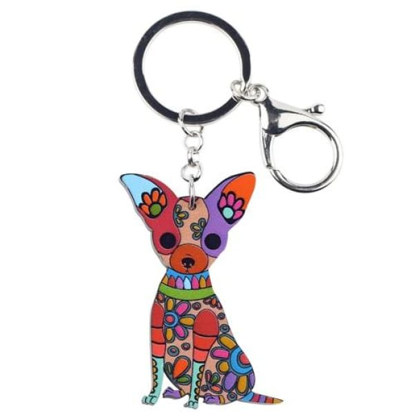 Ornament Chihuahua Keyring - Multicolor - Key Ring