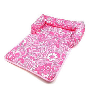 Pink Dog Bed And Cover