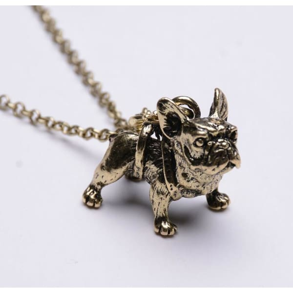 Realistic French Bulldog Necklace - Necklace
