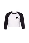 Crop Top Baseball T Black and White