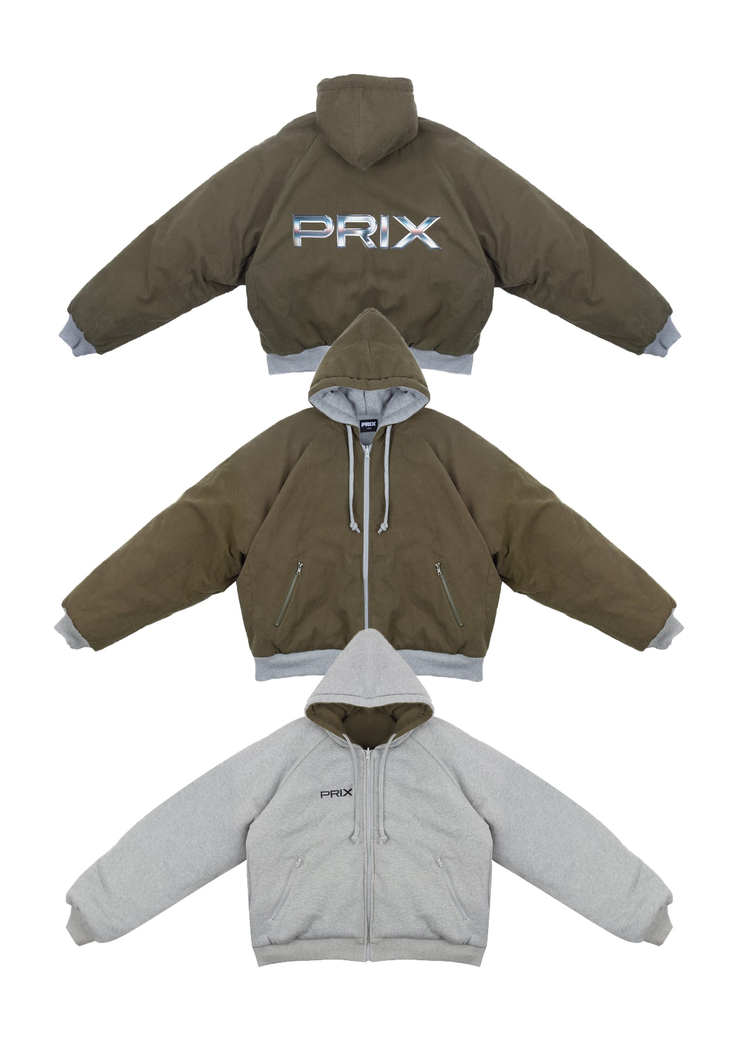 TRAIN REVERSIBLE HOODIE HUNTER