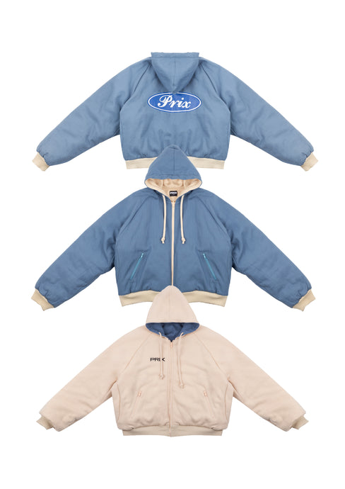 TRAIN REVERSIBLE HOODIE LAPIS