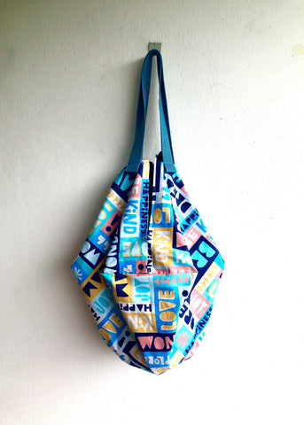 Origami sac reversible bag , ooak handmade shoulder bag | Vida