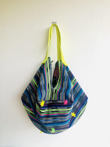 Origami sac shoulder bag , reversible shoulder bag | Visiting Oaxaca's  botanical garden