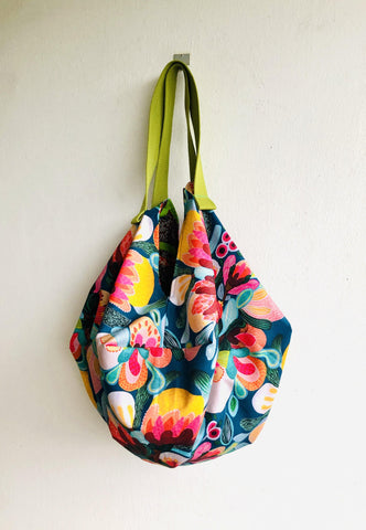 Shoulder sac origami bag , reversible colorful eco friendly sac bag | Tropicalia