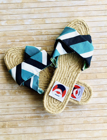 Handmade espadrilles shoes , summer jute sandals | Geometries