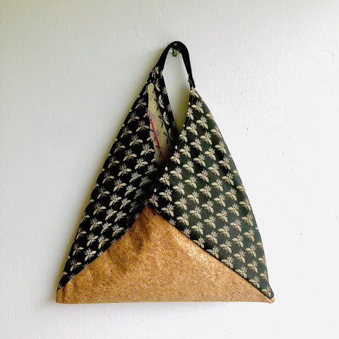 Tote bento bag , origami triangle shoulder bag | Le api di Firenze