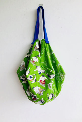 Shoulder eco friendly shopping bag ,handmade original origami bento bag , cool sac bag | sumo