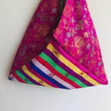 Origami bento bag , Korean fabric colorful bag , beautiful and unique tote bag | Seoul vibes