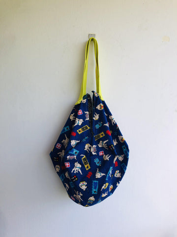 origami sac reversible bag , Japanese inspired | sumo & waves