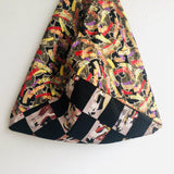 Shoulder origami bag , tote handmade Japanese inspired bag | Festival in Japan