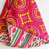 Shoulder origami bag , tote fabric colorful bag , Japanese inspired bag | Fiesta de colores