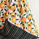 Origami bento bag , triangle tote Japanese inspired bag | Sicilian Oranges & Gold