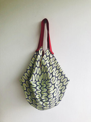 Shoulder origami bag , reversible sac bag , eco shopping bag | Il Biscione