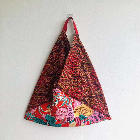 Colorful bento bag , ooak origami bento , shoulder tote bag | Jakarta & Shanghai