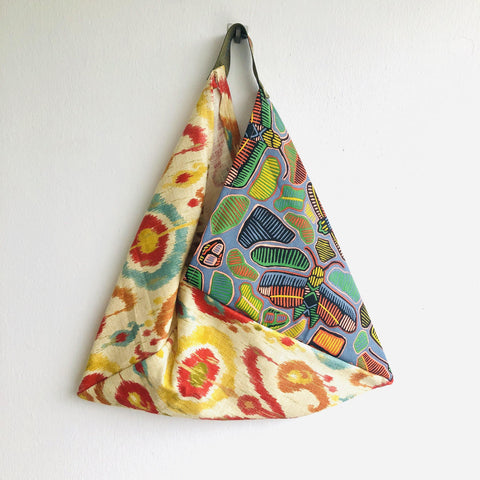 Shoulder bento bag , handmade eco colorful bag , origami bag | A garden in  Cape Town