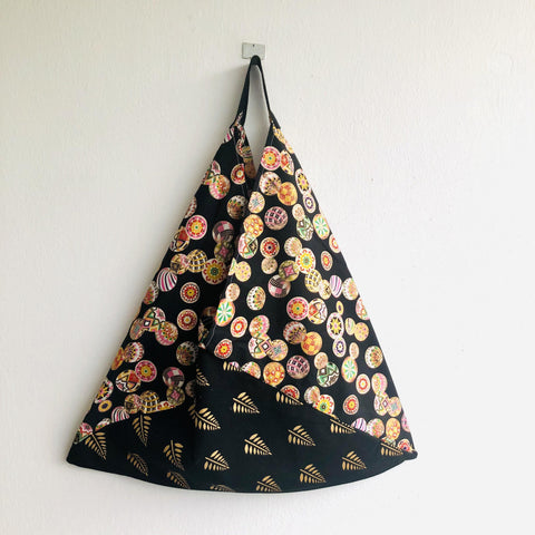 Bento origami bag , shoulder cool fabric eco bag , tote triangle bag | Christmas decorations in Tokyo