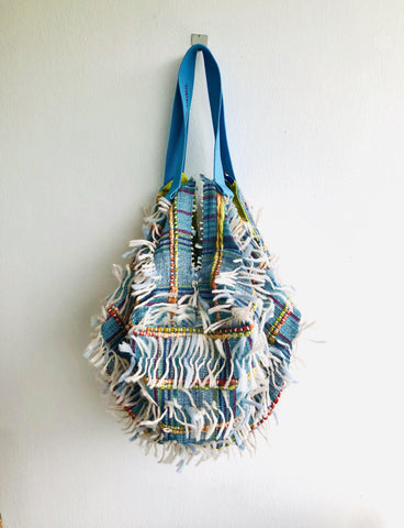 Unconventional cool fabric bag , sac origami reversible shoulder bag | Patagonia