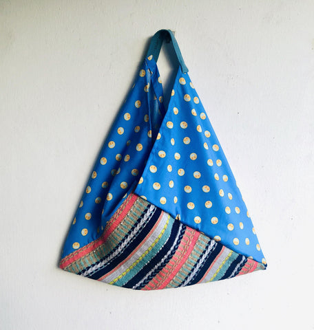 Origami bento bag, shoulder tote bag , colorful eco bag | Phase I