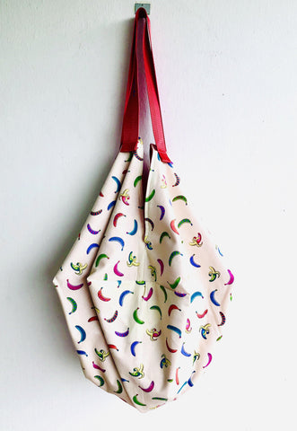 Origami sac handmade Japanese inspired shoulder bag | Going bananas