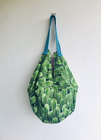 Origami shoulder sac bag , reversible handmade bag | Velvet cactus