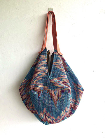 Shoulder sac bag , origami reversible handmade shopping bag | Milano blend