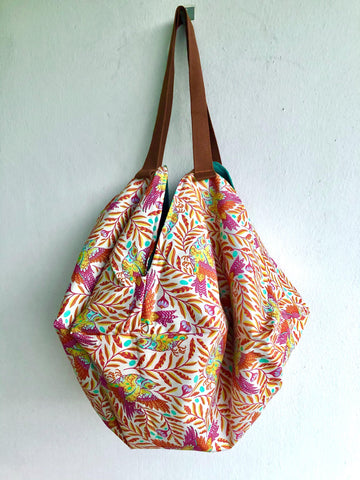 Origami sac shoulder bag | tropical spring