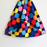 Polka dots bag , handmade shoulder bento bag , origami colorful eco friendly bag | Polka dots colorful universe