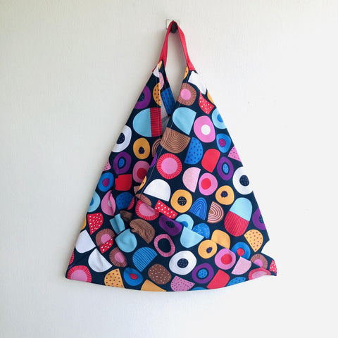 Colorful tote bag , shopping bento bag , origami eco friendly bag | Ibiza