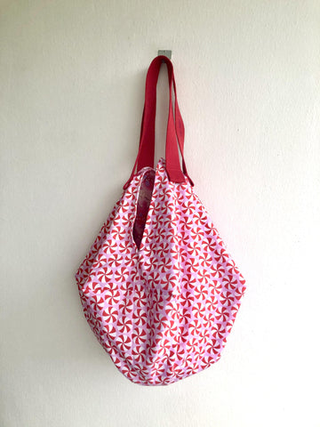 Origami sac shoulder bag , reversible Japanese inspired bag , sac tote bag | Candy candy