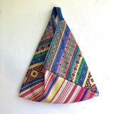 Eco friendly origami bento bag , triangle shoulder groceries eco bag | Tulum , Yucatán