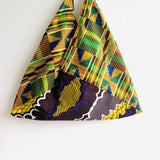Colorful African tote bag , shoulder bento handmade bag | Yellow clouds in Africa