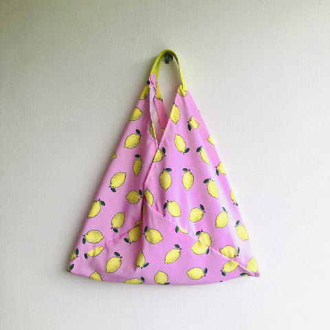 Origami tote bag , bento tote eco bag , shoulder fabric shopping  bag | Limones