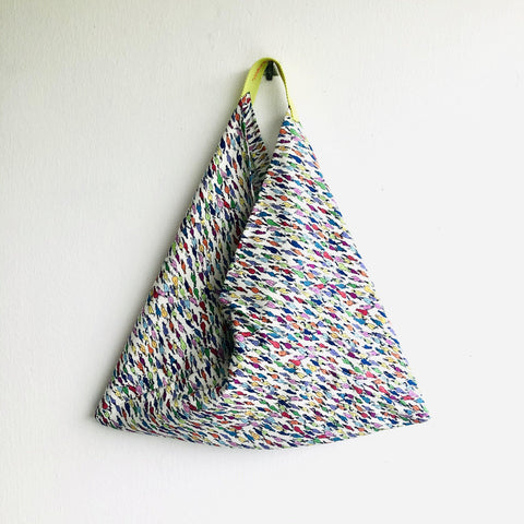 Origami bento bag , triangle colorful tote evo bag | Wild horses