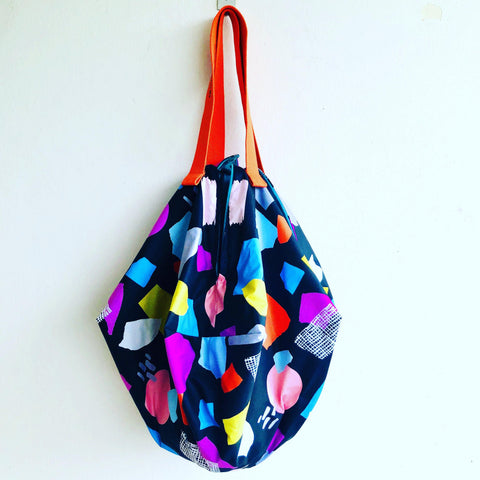 Origami sac shoulder bag, reversible shopping bag | Colors & textures