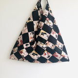 Origami bento bag , shoulder triangle bag , fabric eco bag | Shogun