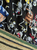 Eco friendly original market shopping bag | Mexican Dancing Skulls - jiakuma.myshopify.com