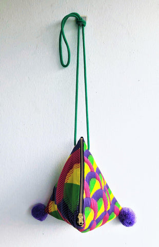 African colorful origami shoulder fabric bag | Colorful Africa